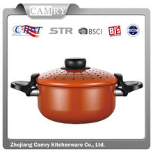 hot-selling ceramic cooking soup pot with strainer lid