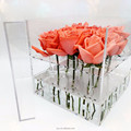 Hot Selling Acrylic Rose Box Crystal Flower Box Gift Box