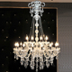 XingJun Nordic style clear crystal steel chandelier ceiling pendant lights hotel project