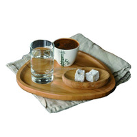 Totally Bamboo Appetizer Plate Cocktail/Tea Serving Tray Party Snack Platter