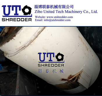 wood barrel shredder / High capacity factory price Double Shaft Shredder D2830/ Dual Shear Shredder / Two Rotor Crusher