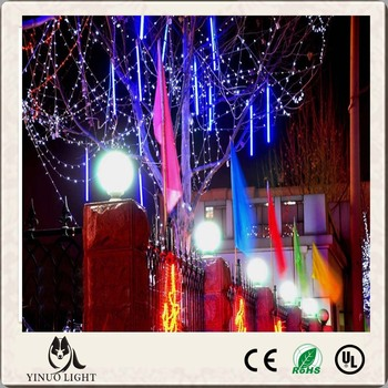 50CM Shower Rain Meteor Tube LED String Light For Wedding Garden 100-240V Christmas Tree Decoration light