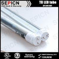 1200mm g13 base t8 led tube 18w free japan red tube