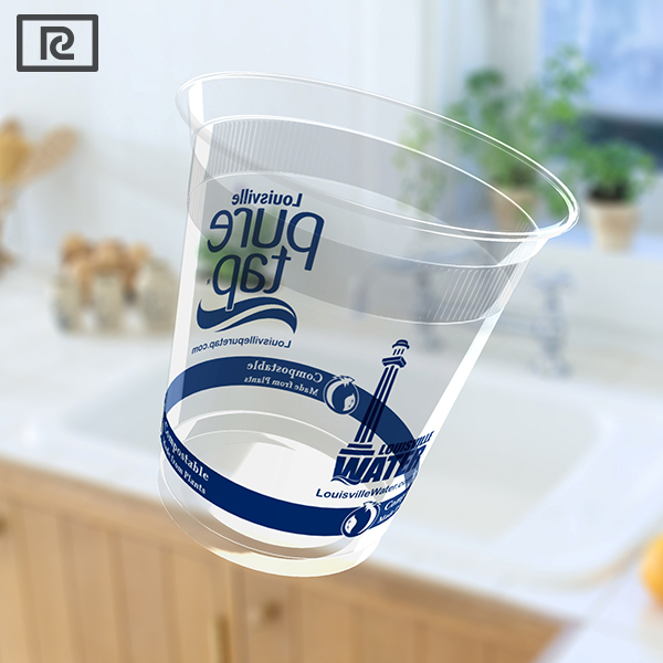 J-R200Y 76mm non-toxic take away disposable packaging plastic PLA plastic cup with lid