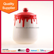 Decoration large cookie jar ceramic food container for household