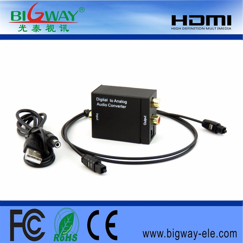 Hot sale digital to alalog rca audio converter