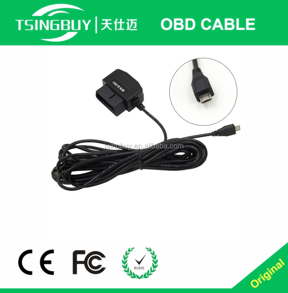 16 Pin Auto Diagnostic Cable Obd 2 To Android USB Cable With 4 Meter Wire