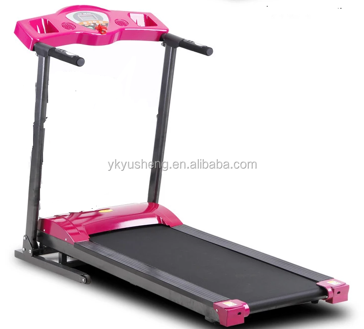 electric steel Pink treadmills hot selling