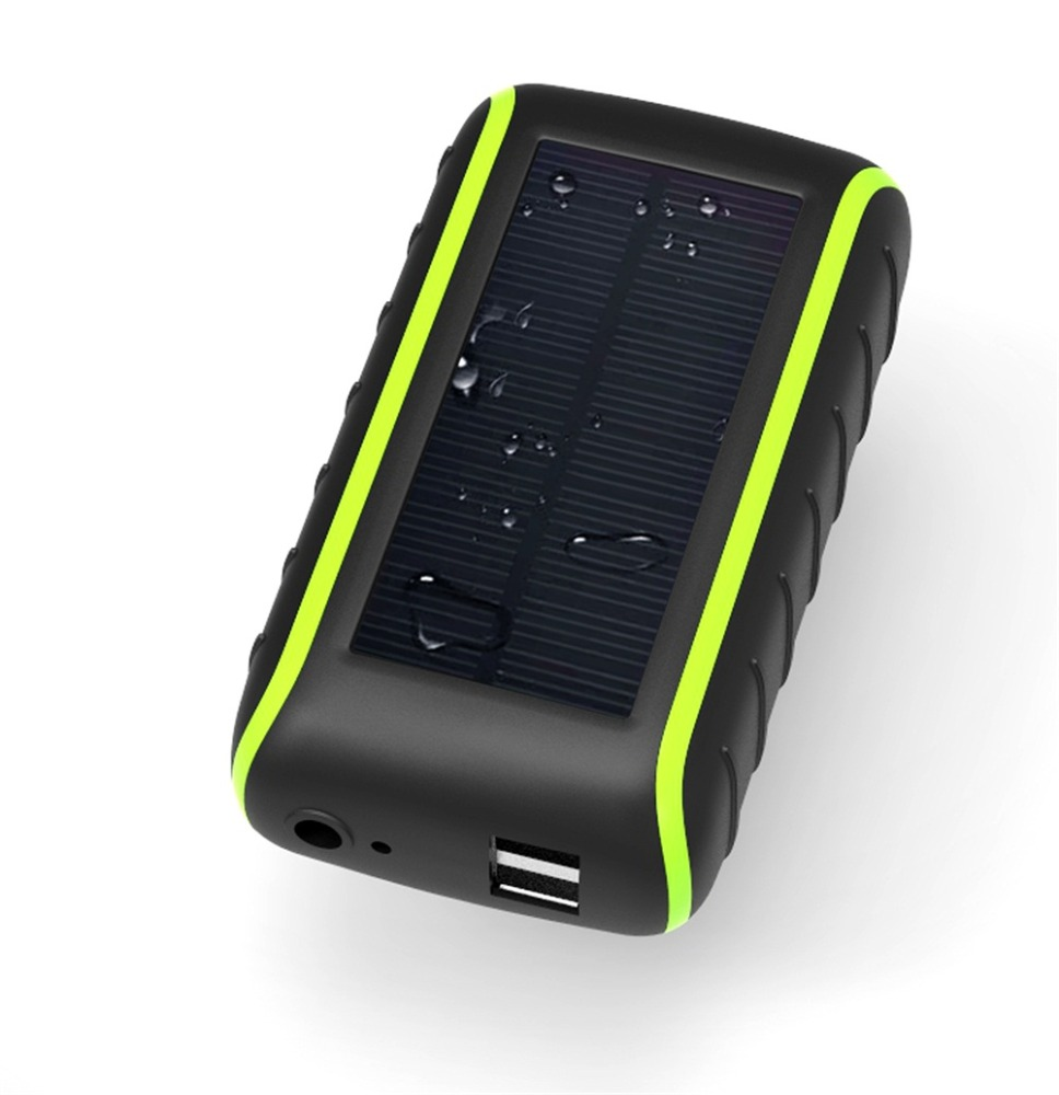 Portable Solar Charger Power Bank External Battery Adapter with Hand Cranking for Phone