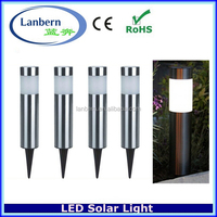 2016 Stainless steel LED Solar Gate Post Pillar Light solar powered garden rock lights JD-115A01