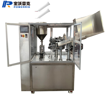 Small automatic cost-effective ointment unguent aluminum tube filling sealing machine for paint tube metal glue tube filling