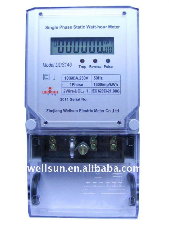 Single phase tamper protection electricity meter