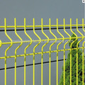 PVC coated curved Peach post metal wire mesh fence