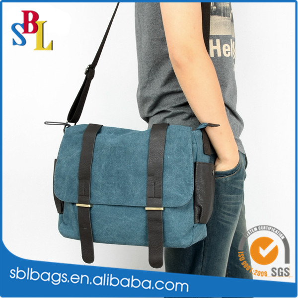 Mens Boys Vintage Canvas Shoulder Military Messenger Bag Sling School Bags Chest Military Leather Patchwork Messenger Bag
