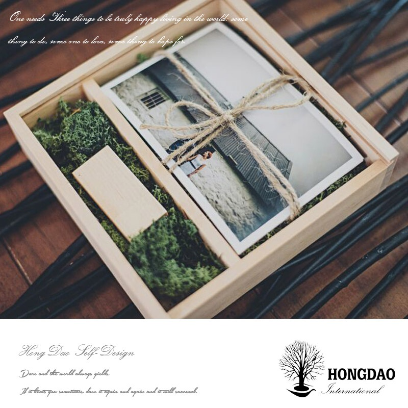 HONGDAO Promotional High quality custom wooden photo frame box packaging
