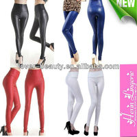 Wholesale preety colorful pvc trendy women thick leggings