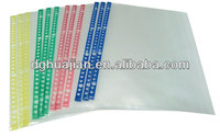 26 holes pp vinyl sheet protector transparent color side A4 size from Dongguan Manufacture