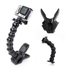 Go Pro Accessories, Jaws Flex Clamp Mount and Adjustable Neck for GoPro Accessories or Camera Hero 3/3+/5 4 sj 4000/5000/6000