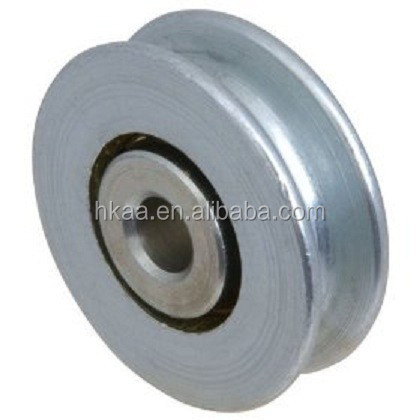 stainless steel large groove wire rope pulley wheel