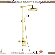 Bath Room Set Single Handle Gold Bathtub Brass Shower Faucets Mixers