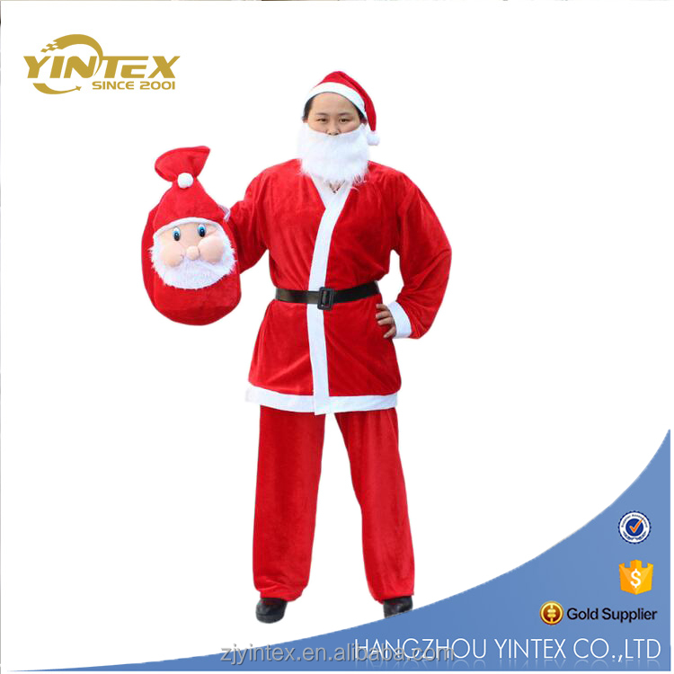 Supply Winter Warmer Santa Adult Man Christmas Cloth Dress for Party Celebration