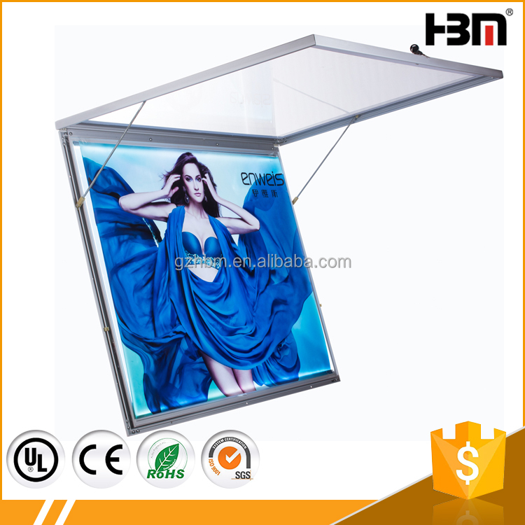 Outdoor light box snap aluminum LED picture frame waterproof slim light box