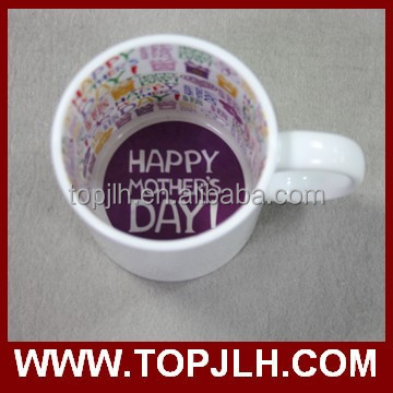 Meaningful mothers day gift personalized inner colorful sublimation ready mug