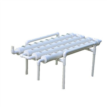 Food grade pvc NFT Hydroponic growing System with round pipes