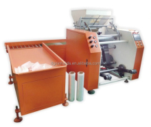 automatic stretch film rewinding machinery film winding machine