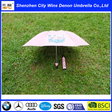 customized Chirstmas promotion gift 3 fold umbrella, uv protection manual wine bottle umbrella