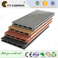 Garden wood grain water proof wpc outdoor decking