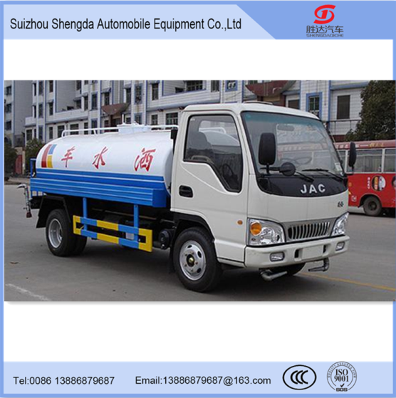 JAC brand mini capacity water truck with good quality and low price