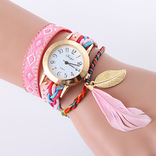 Duoya Brand Watch Women Gold Weave Hand Fashion Ribbon Watches Luxury Crystal White Analog Quartz Watch For Ladies