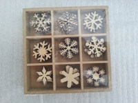 2015 art craft new design Christmas Present wooden stamps snow