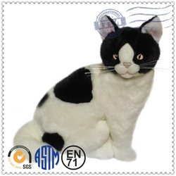china wholesale colorful pattern toy cats that look real