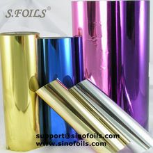 hot stamping foil for paper / plastics /abs /pp/pe material A grade quality of golden color manufacturer price for distributor