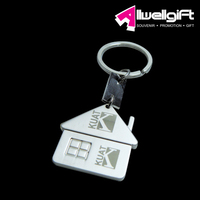 zinc alloy material house shaped metal key chain /metal keychain/metal key fob