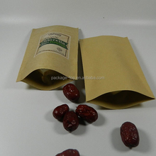 heat resistant brown kraft paper packaging bag for hamburger and kebab