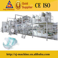 Full servo high speed disposable susu baby diapers equipment