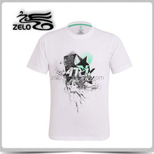 Hot sale tar printing casual cotton t shirts OEM manufacturer