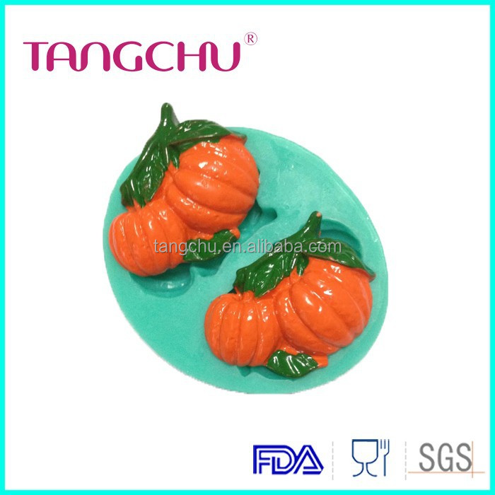 Pumpkin Shape Highly Food Grade Silicone Fondant Cake Mold