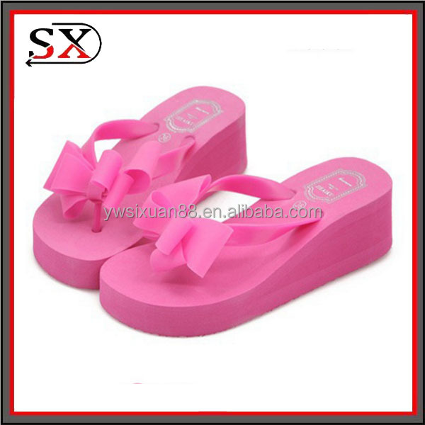 (Stock) 2017 stock item summer slipper girls women bow slide sandal flip flop
