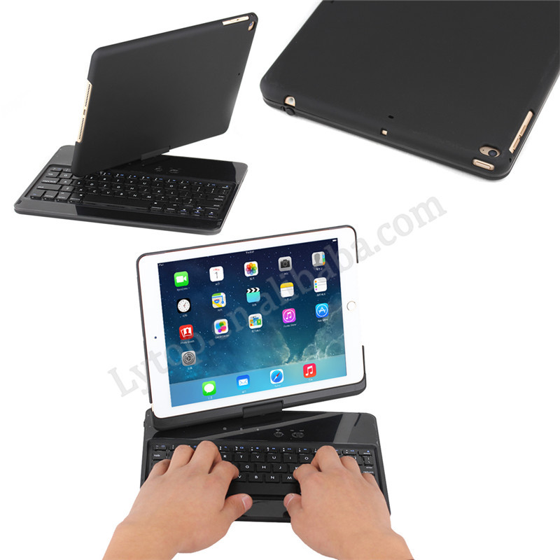 2015 Hot Selling Extranal Keyboard Bluetooth Case for iPad Air 2,Leather Keyboard for iPad Air 2