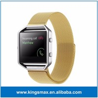 2016 New Watch Accessory Band Gold Watch Band for Fitbit Blaze Stainless Steel Smart Watch Strap for Fitbit Sport Tracker