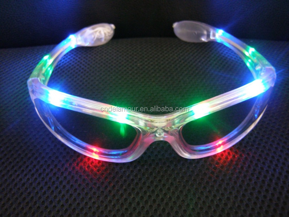 LED glow in the dark party glasses light flashing sunglasses DLP9002-11
