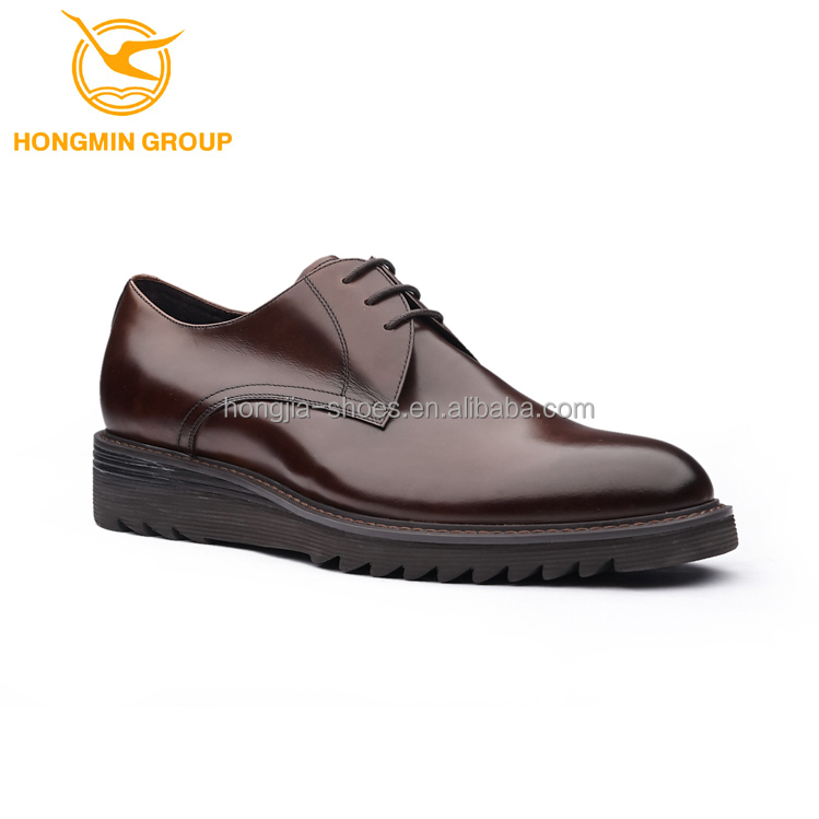 2016 Wholesale New Lace Up Rubber Sole Turkey Style Shoe Full Leather High Class Luxury Fashion