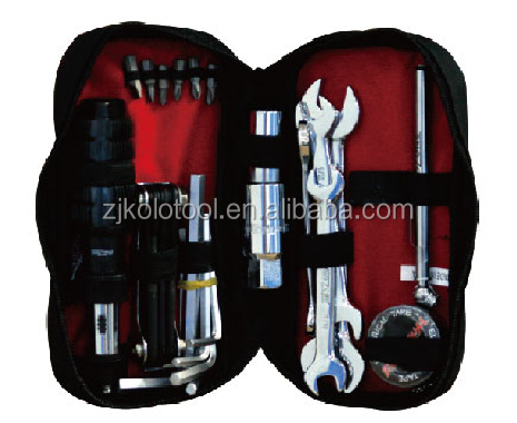 Tool sets 26pcs motorcycle repair tool travel set toolkit