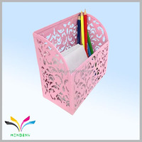 Hot sales high quality embossing innovative metal cheap computer pen holder