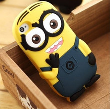 Mobile phone case cover for apple iphone6,despicable me 2 minions 3d silicone skin soft case