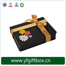 High quality flower design black gift box wholesale Luxury cardboard cigarette boxes